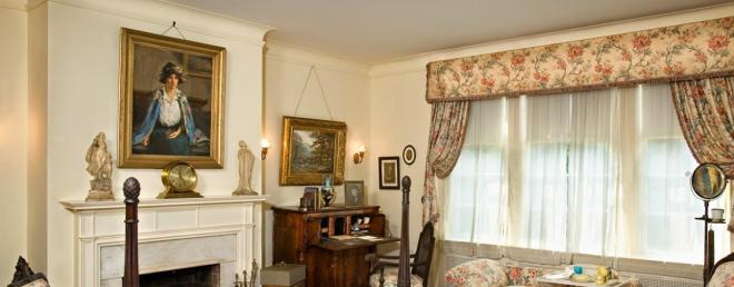 """Gerraldine J."" now hangs of over a bedroom fireplace in the Wilson House in Washington D.C."