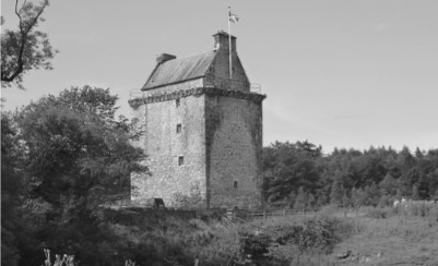 Pictured above in Gilnockie Tower, located 2.3 miles north of Canonbie Scotland, built by Johnnie Armstrong, around 1520. The Lochinvar, made his escape through Cannobie in Sir Walter Scott's poem