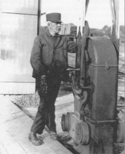 Howard C. Boyce, gate-tender at Windham Depot.