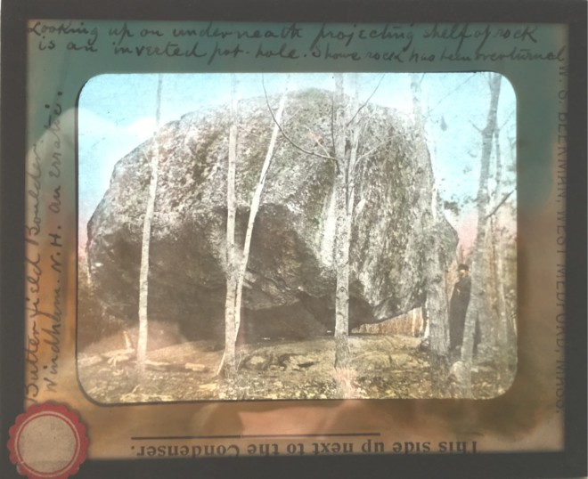 Magic Lantern Slide of Butterfield's Rock in Windham