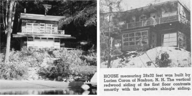 The two summer homes built by the Caron Brothers on Rock Pond in Windham NH