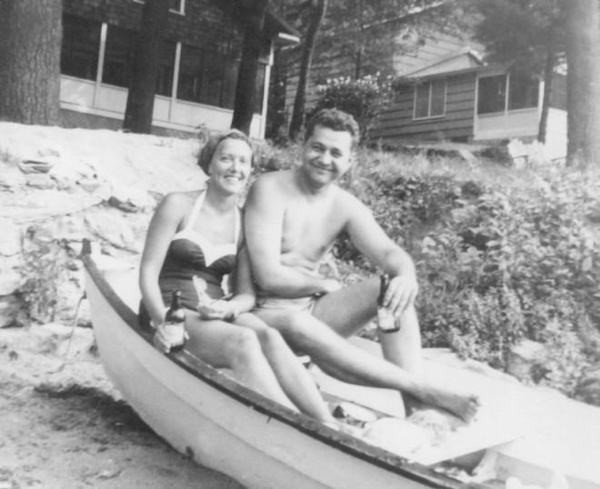 Joe and Mary Alosky Relax on Cobbett's Pond