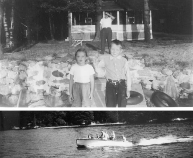 Joe and Mary Ann. The Family Boating on Cobbett's.