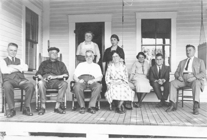 The front porch was a favorite gathering spot at Brookside Farm