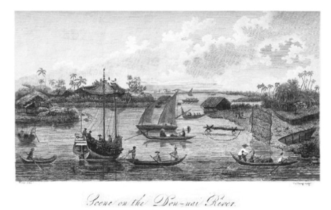 A View of the Don-nai River near Saigon from the book History of a Voyage to the China Sea