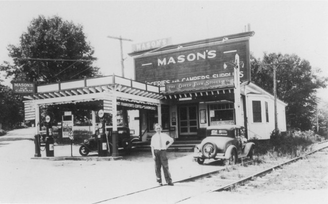 Mason's Store: Range Road and Route 28, Windham/Salem Line.