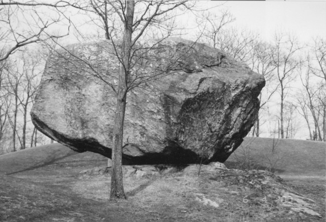 A huge Megalith? Butterifield Rock in Windham NH. The work of glaciers or something else?